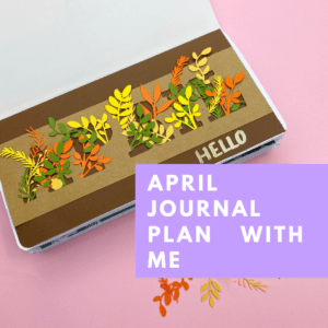 April Autumn Journal Plan with me