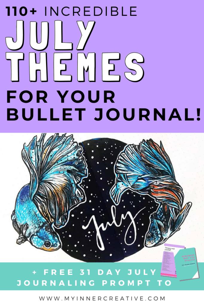 july bullet journal theme ideas
