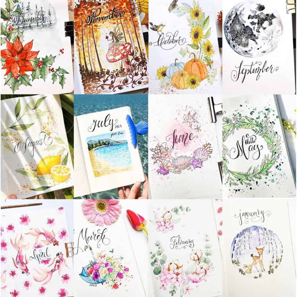 24 examples of how to plan ideas for bullet journal themes ...