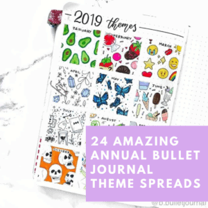 24 examples of how to plan ideas for bullet journal themes in 2021