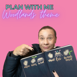Cute and easy Woodlands Bullet Journal plan with me for November 2020 that YOU can do!
